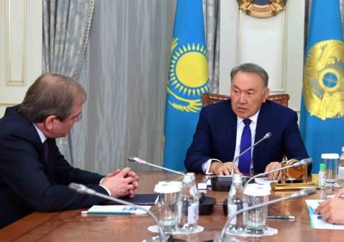 Президент казахстана нурсултан назарбаев встретился с председателем правления евразийского банка развития (еабр)